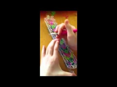 How to make a rainbow loom jelly bean bracelet