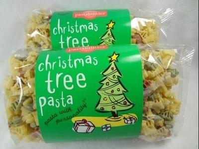 How to make Christmas Pasta Tree + M&Ms