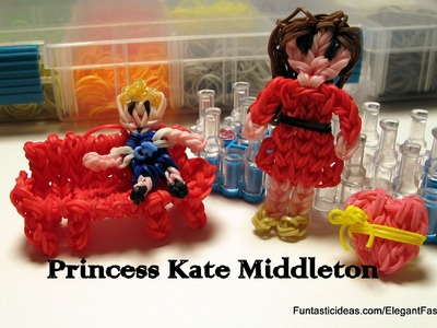 Mother's Day Gift idea:Rainbow Loom Princess Kate Middleton(Mother) Figure - How to