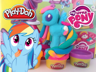 Play Doh My Little Pony Rainbow Dash Make N Style Ponies  MLP toys  Playdough  2015