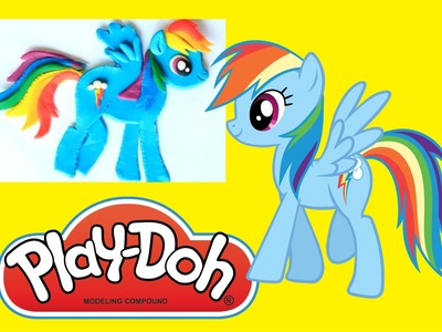 PLAY-DOH Rainbow Dash My little Pony made with Play-doh MLP | How to make Playdoh tutorial
