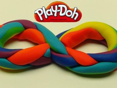 Playdoh Rainbow Braid!  Easy!