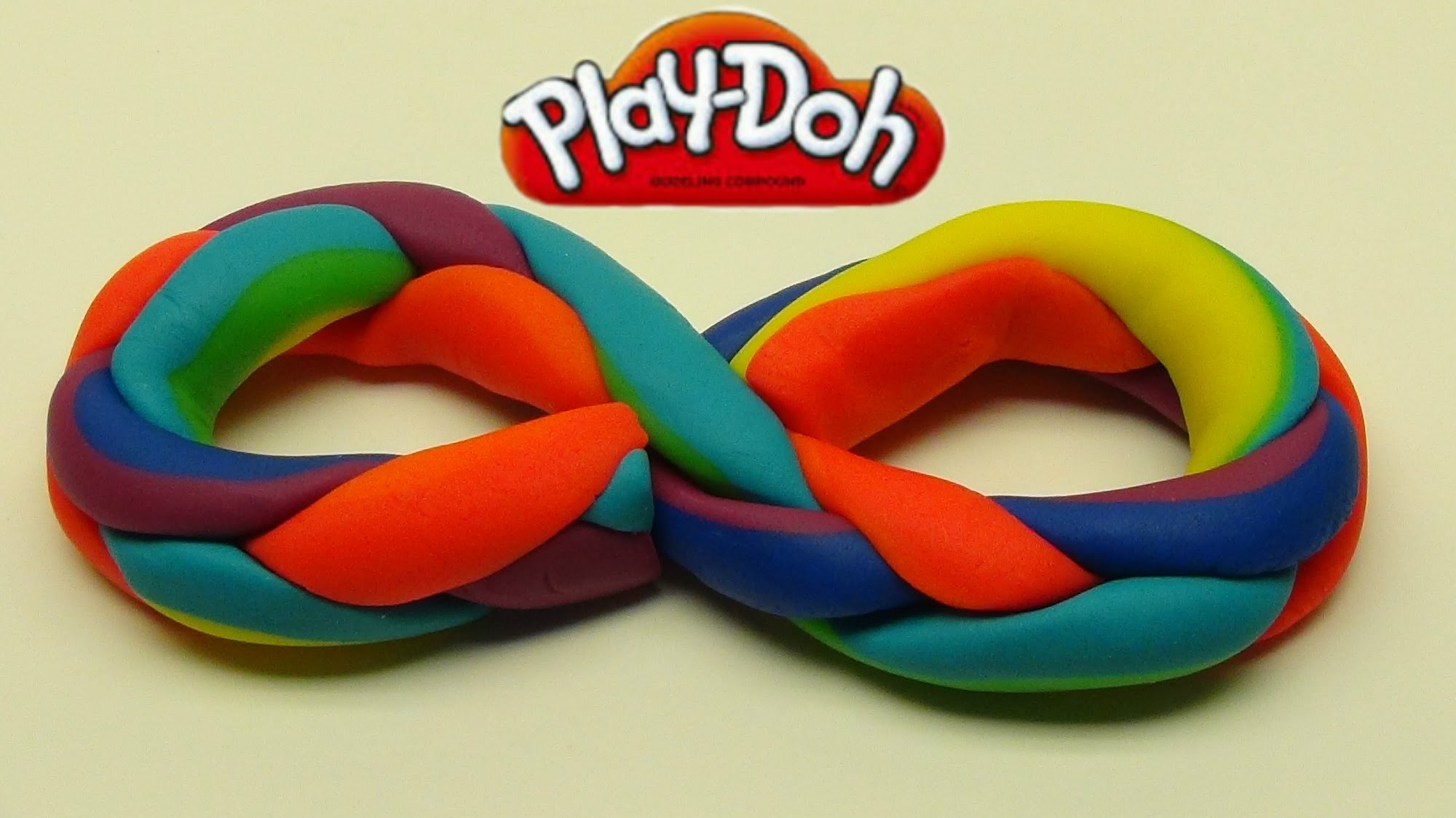 Playdoh Rainbow Braid!  Easy!