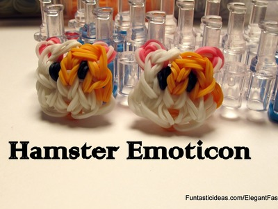 Rainbow loom Hamster Face.Emoticon.Emoji charm - How to