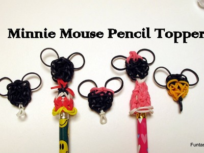 Rainbow Loom Minnie.Mickey Mouse Pencil Topper.charm - How to