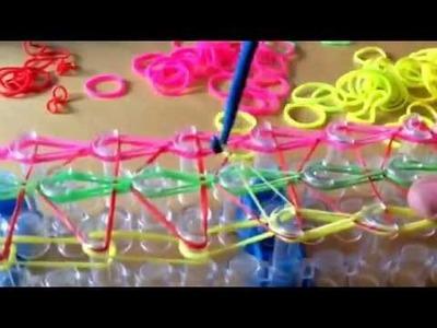 Rainbow loom,Nederlands 3 dubbele beginners armband