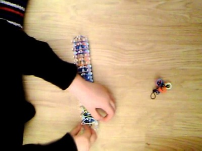 Rainbow loom porte clé decoratif