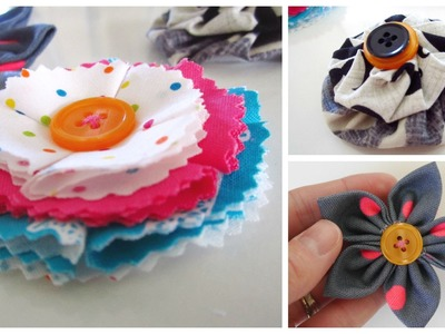 {Step-by-Step Sewing} 3 Easy Fabric Flowers