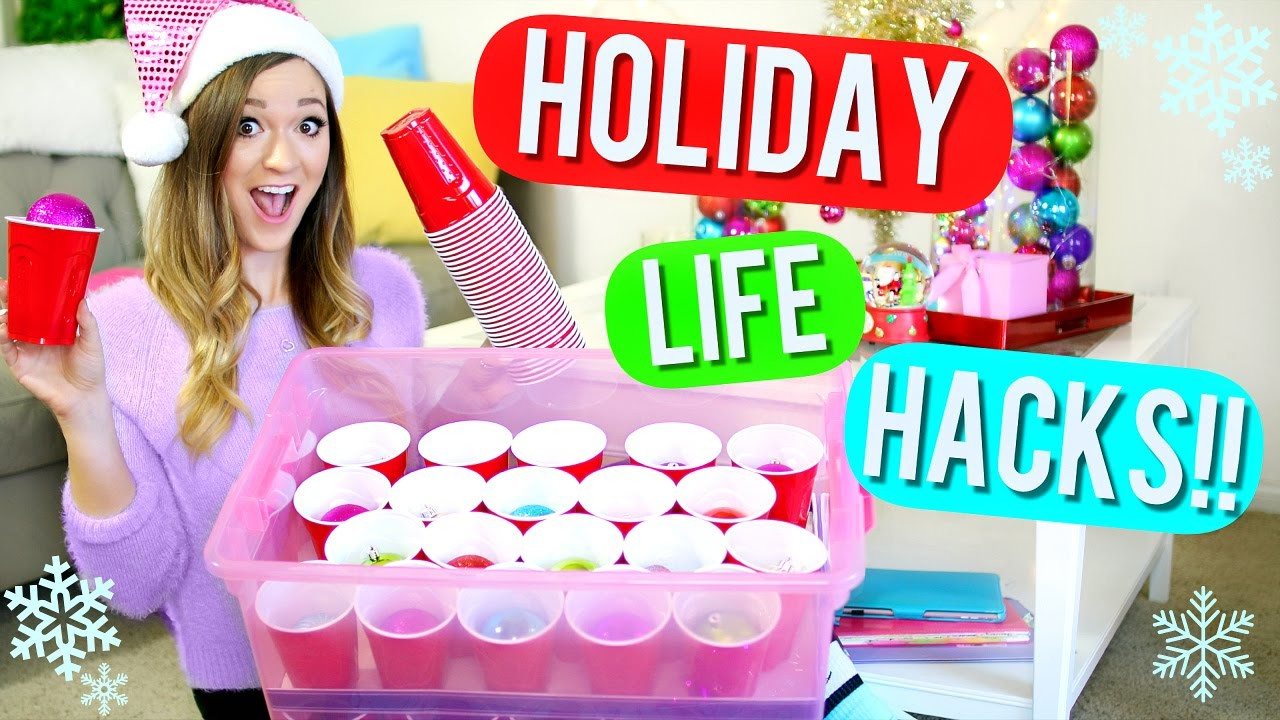 20 DIY Holiday Life Hacks!! Alisha Marie