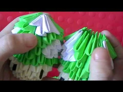 "3D origami: ""1 up"" mushroom- super mario brothers (part 2)"