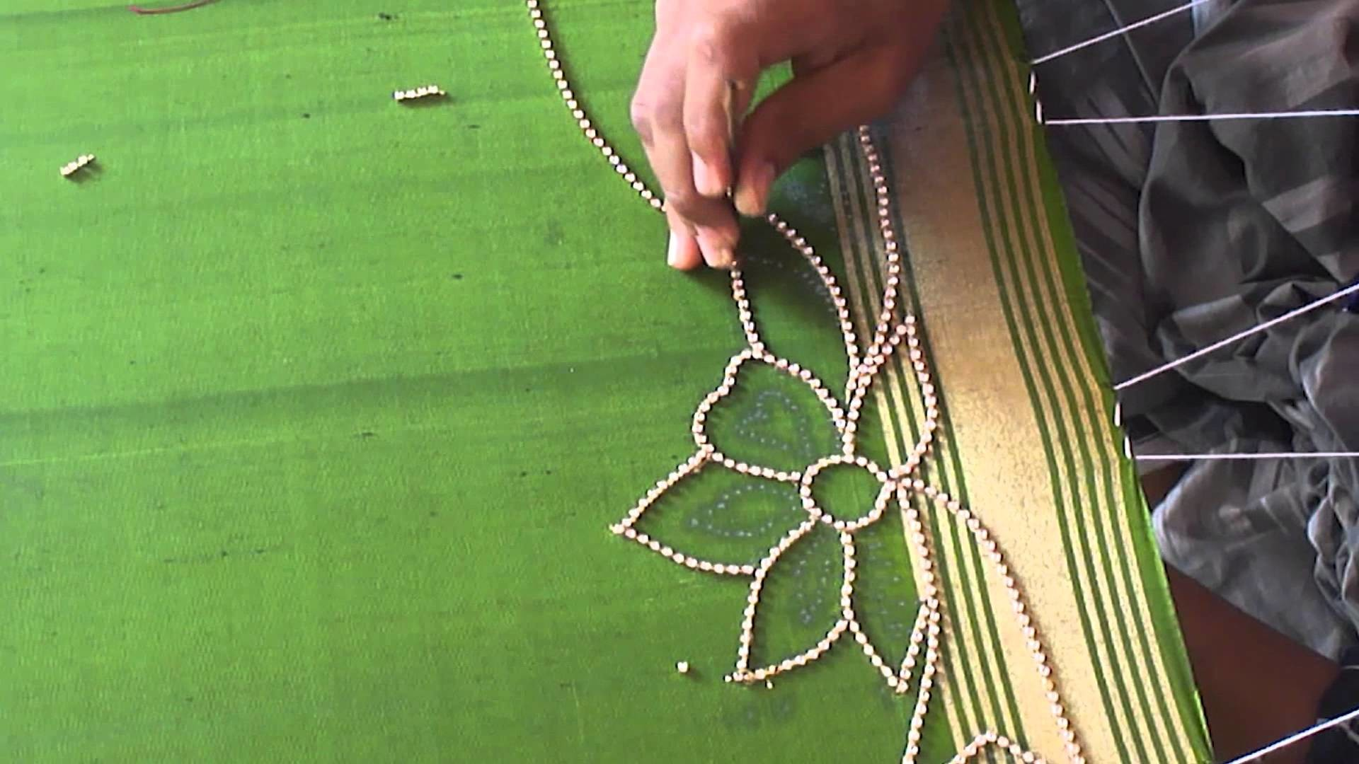 A full Design of Paani chain in Aari or Maggam work   tutorial 1