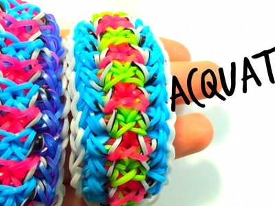 Acquatica Bracelet | Two Loom Rainbow Loom Tutorial