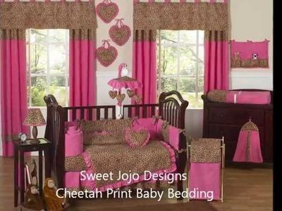 Cheetah Baby Bedding - Animal Print Nursery Decor