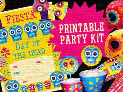 Day of the Dead.Dia de los Muertos - Printable Party Kit: Instantly download now!
