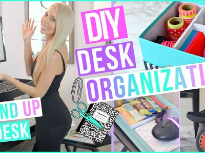 Desk Organization Ideas to Boost Productivity + DIY Stand Up Desk!