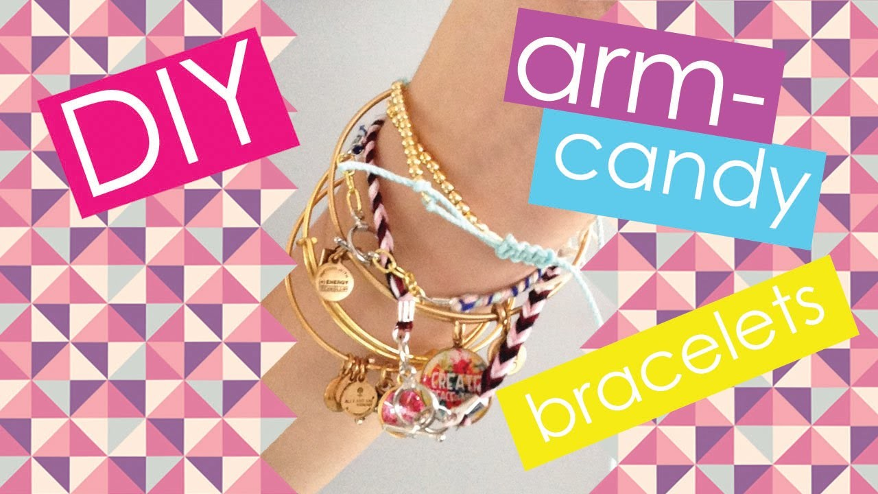 DIY ARM-CANDY BRACELETS