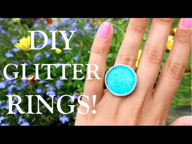 DIY GLITTER RINGS!