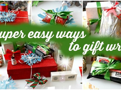 DIY LAST MINUTE GIFT WRAP | EASY WAYS TO GIFT WRAP