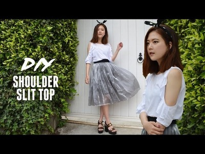 DIY Shoulder Slit Summer Top