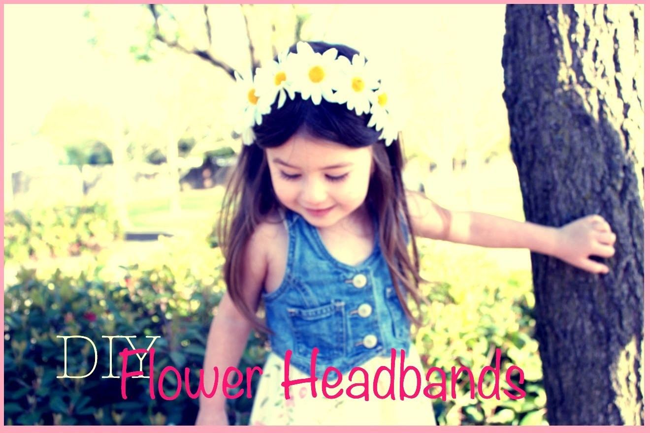DIY-Spring flower headbands