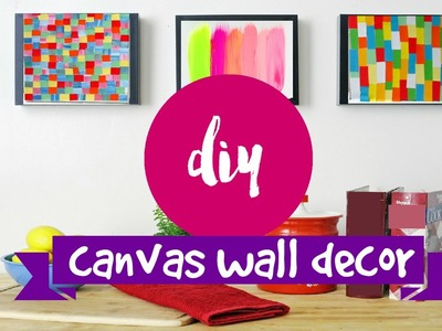 DIY ✂ WALL ART- 2 supereasy & simple canvas ideas
