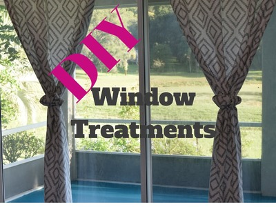DIY Window Treatments + Repair holes in the wall
