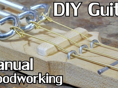 Extended Cut: Building a Cigar Box Guitar w.Hand Tools [No Dialogue]