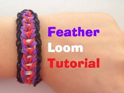 FEATHER Loom bracelet Tutorial Rainbow Loom l JasmineStarler