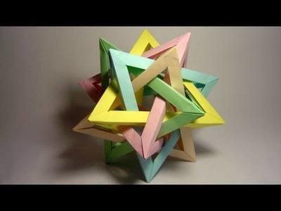 Five Intersecting Tetrahedra Origami (Thomas Hull)