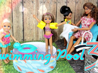 How to Make a Doll Swimming Pool 3:   Doll Floaties | Doll Fire Pit - Doll Crafts