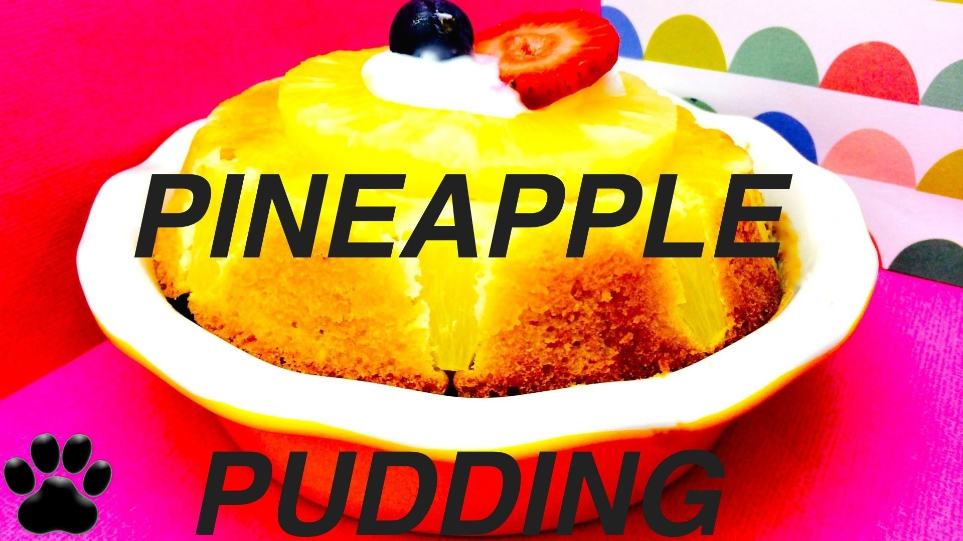 How to make PINEAPPLE DOG PUDDING  DIY Dog Dessert Mug Cake by Cooking For Dogs