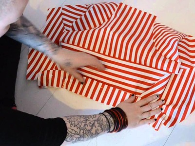 How to sew a candy cane shrug