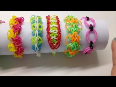 Link & Knots, Onion Ring bracelet Rainbow Loom bracelet
