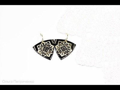 Making earrings made of polymer clay. MC for beginners. )