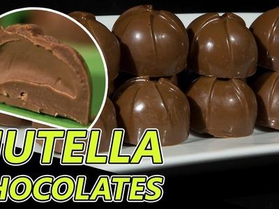 Nutella Filled Milk Chocolates Recipe   Silicone mold