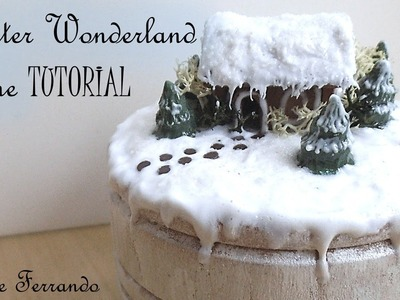 Polymer Clay Winter Wonderland Christmas Scene Box Mixed Media Tutorial