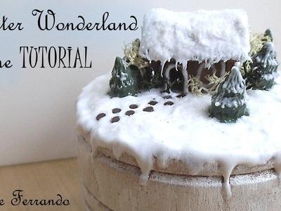 Polymer Clay Winter Wonderland Christmas Scene Box Mixed Media Tutorial
