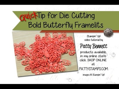 Quick Tip with Dollar Store paintbrush for Bold Butterfly Framelits Stampin' Up!