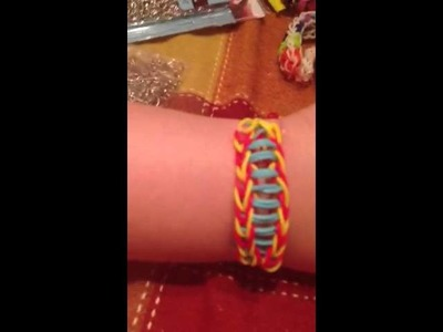 "Rainbow loom bracelet invention #2 ""fishtail shoelace"""