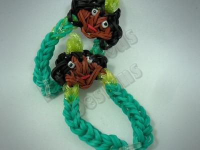 Rainbow Loom Princess Tiana Charm Bracelet