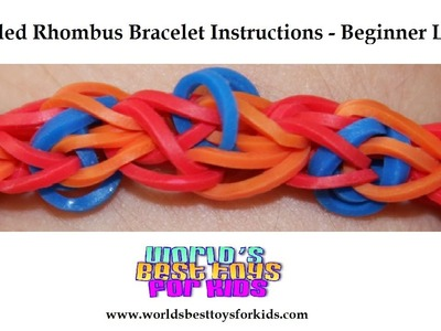 Rainbow Loom Rubber Band Refill - Speckled Rhombus Bracelet Instructions