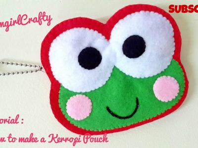 Saniro Pouch Series : Tutorial - How to make keroppi pouch