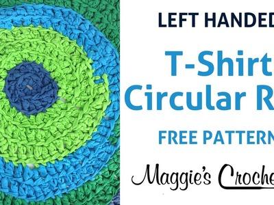 T-Shirt Circular Rug Free Crochet Pattern - Left Handed