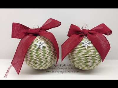 Two-Toned Trim Christmas Ornament