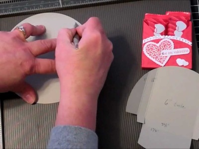 Valentine's Circle Treat Holder using Stampin Up Products