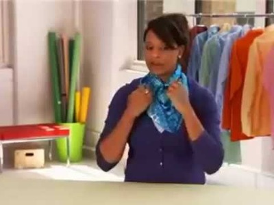 Amazing! How To Tie A Rectangular Silk Scarf Around Your Neck IN 5 SECOND