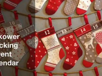 Christmas Stocking Advent Calendar Tutorial | Hobbycraft