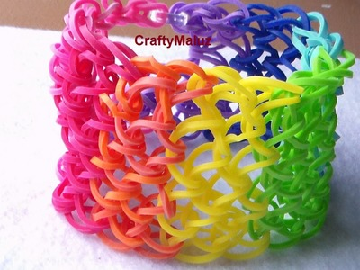Como Hacer Pulsera De Gomitas Escamas De Dragon!. How to make the rainbow loom Dragon Scale Cuff