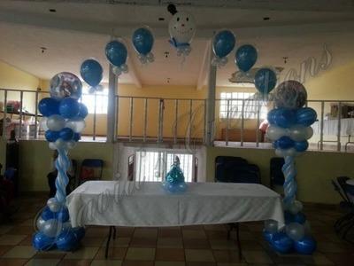 Decoracion de tema Frozen - Decoraciones con globos