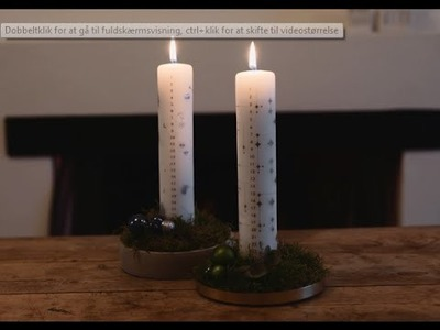 DIY: Advent candle decoration by Søstrene Grene